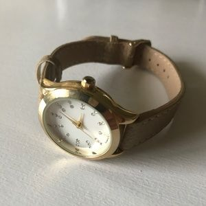Franchesca's Gold and Tan Watch